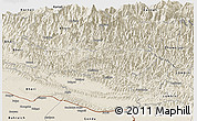 Shaded Relief Panoramic Map of Rapti