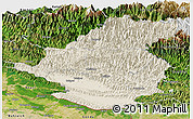 Shaded Relief Panoramic Map of Rapti, satellite outside
