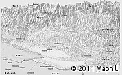 Silver Style Panoramic Map of Rapti