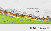 Physical Panoramic Map of Nepal