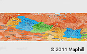 Political Panoramic Map of Nepal