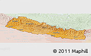 Political Shades Panoramic Map of Nepal, lighten