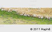Satellite Panoramic Map of Nepal