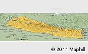 Savanna Style Panoramic Map of Nepal