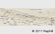 Shaded Relief Panoramic Map of Nepal