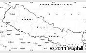 Blank Simple Map of Nepal