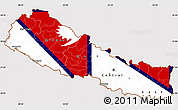 Flag Simple Map of Nepal, flag rotated