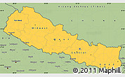 Savanna Style Simple Map of Nepal