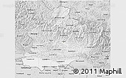 Silver Style 3D Map of West