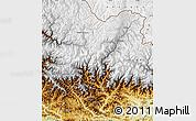 Physical Map of Dhawalagi