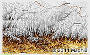 Physical Panoramic Map of Dhawalagi