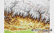 Physical 3D Map of Gandaki
