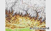Physical Map of Gandaki