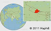 Savanna Style Location Map of West
