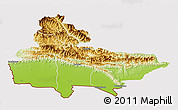 Physical 3D Map of Lumbini, cropped outside