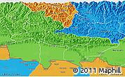 Political 3D Map of Lumbini