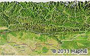 Satellite 3D Map of Lumbini