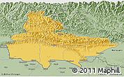 Savanna Style 3D Map of Lumbini