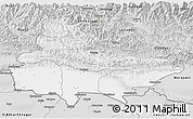 Silver Style 3D Map of Lumbini