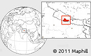 Blank Location Map of Lumbini