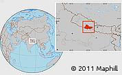 Gray Location Map of Lumbini