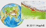 Physical Location Map of Lumbini