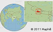 Savanna Style Location Map of Lumbini