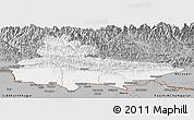 Gray Panoramic Map of Lumbini