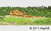 Physical Panoramic Map of Lumbini, satellite outside