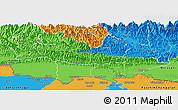 Political Panoramic Map of Lumbini