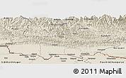 Shaded Relief Panoramic Map of Lumbini