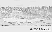 Silver Style Panoramic Map of Lumbini