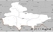 Gray Simple Map of Lumbini