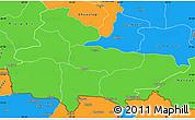 Political Simple Map of Lumbini