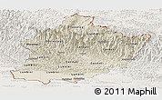 Shaded Relief Panoramic Map of West, lighten