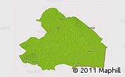 Physical 3D Map of Drenthe, cropped outside
