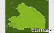 Physical 3D Map of Drenthe, darken