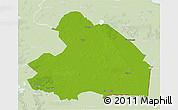 Physical 3D Map of Drenthe, lighten
