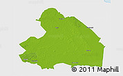 Physical 3D Map of Drenthe, single color outside