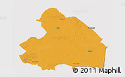 Political 3D Map of Drenthe, cropped outside