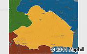 Political 3D Map of Drenthe, darken