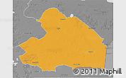 Political 3D Map of Drenthe, desaturated