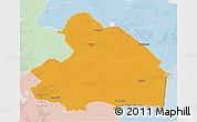 Political 3D Map of Drenthe, lighten