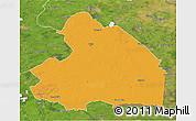 Political 3D Map of Drenthe, satellite outside
