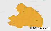 Political 3D Map of Drenthe, single color outside