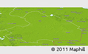 Physical Panoramic Map of Drenthe