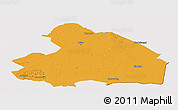 Political Panoramic Map of Drenthe, cropped outside