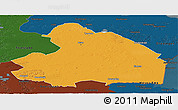 Political Panoramic Map of Drenthe, darken