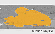 Political Panoramic Map of Drenthe, desaturated