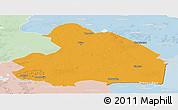 Political Panoramic Map of Drenthe, lighten